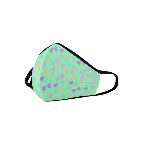 minty hearts Mouth Mask