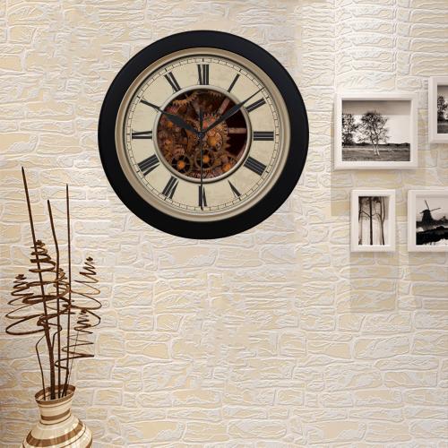 Steampunk Cogs Clock Circular Plastic Wall clock