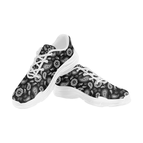 Black Lyra Men's Running Shoes/Large (Model 058)