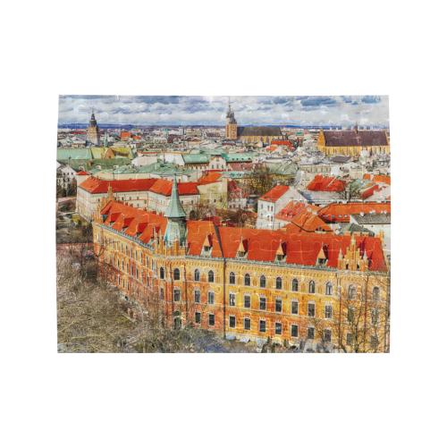 Cracow Krakow city art Rectangle Jigsaw Puzzle (Set of 110 Pieces)