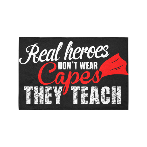 Real Heroes Don't Wear Capes They Teach Motorcycle Flag (Twin Sides)