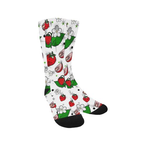 Strawberry Popart by Nico Bielow Trouser Socks (For Men)