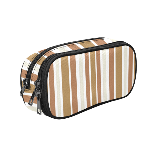Gold Sienna Stripes Pencil Pouch/Large (Model 1680)