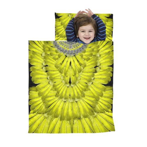 bird12- deep v neck back Kids' Sleeping Bag