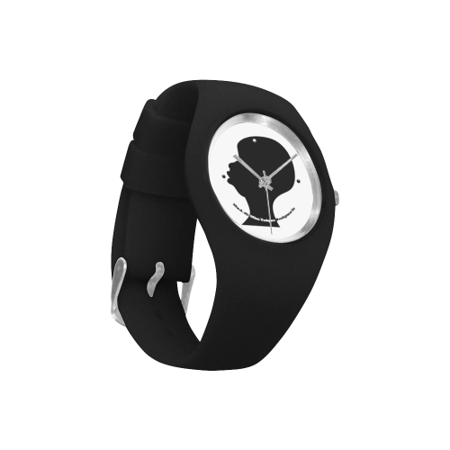 Black Silhouette Black Simple Style Candy Silicone Watch (Model 315)