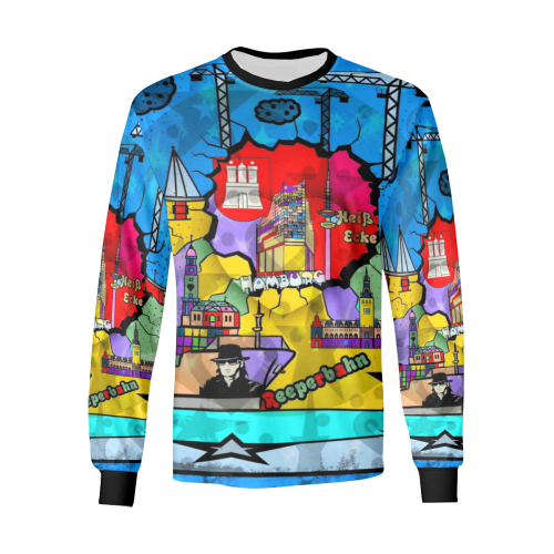 Hamburg by Nico Bielow Men's All Over Print Long Sleeve T-shirt (Model T51)