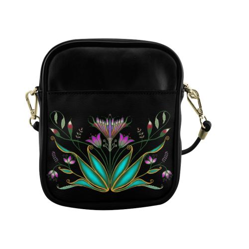 Exotic Floral Sling Bag (Model 1627)
