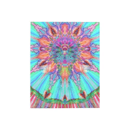 "life colors 2 Quilt 40""x50"""
