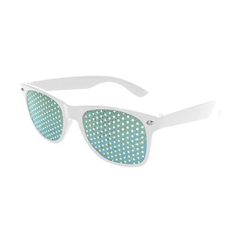 Gold Elegance Polka Dots Shower Custom Goggles (Perforated Lenses)