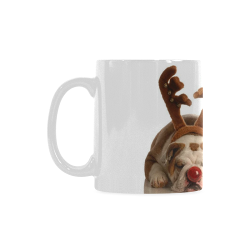 Ceramic Mug Cute Christmas Dogs Custom White Mug (11oz)