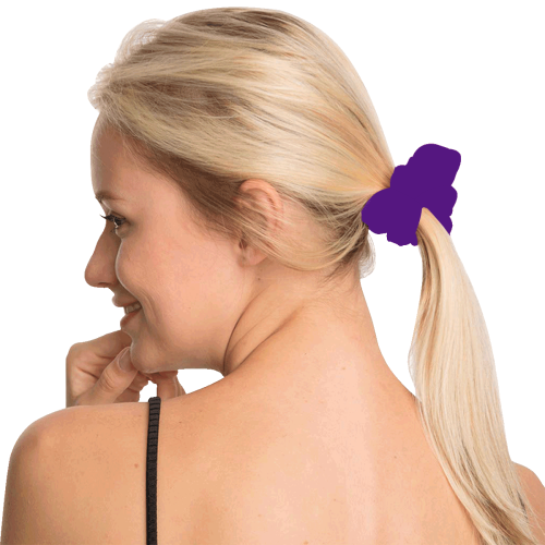 color indigo All Over Print Hair Scrunchie