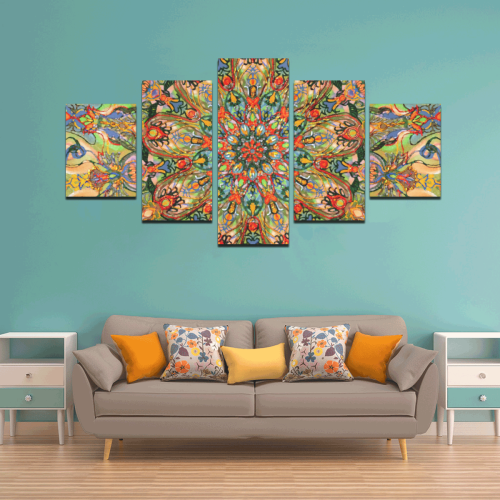 mandala 7 Canvas Wall Art Z (5 pieces)