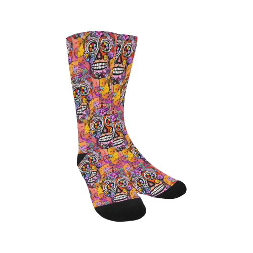 Skull Popart by Nico Bielow Trouser Socks (For Men)