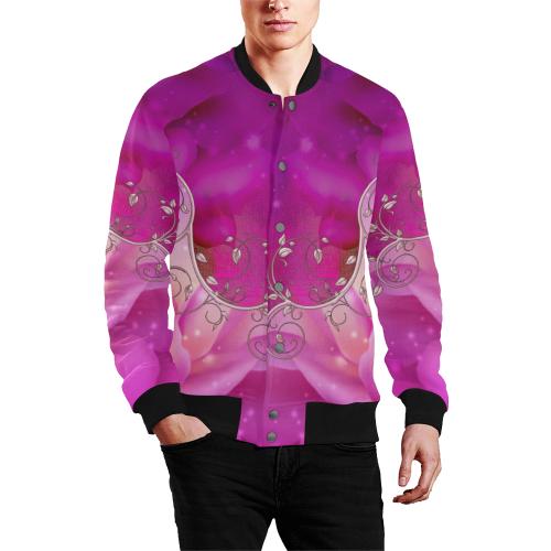 Wonderful floral design Men's All Over Print Baseball Jacket (Model H26)