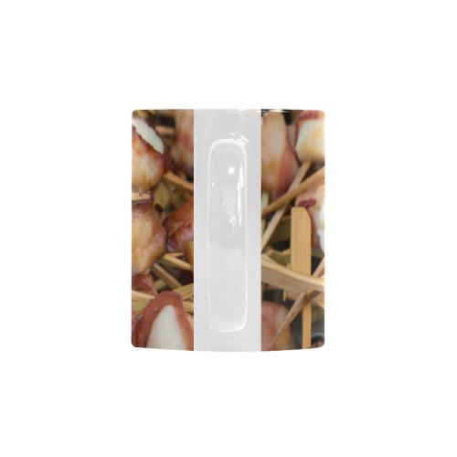 Bacon Wrapped Scallops Custom White Mug (11OZ)