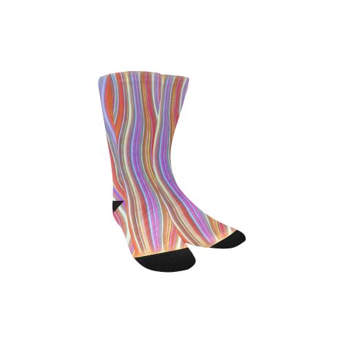 Wild Wavy Lines I Kids' Custom Socks