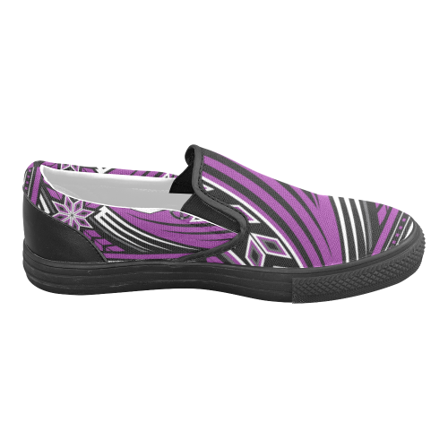 Wind Spirit Purple Men's Slip-on Canvas Shoes (Model 019)