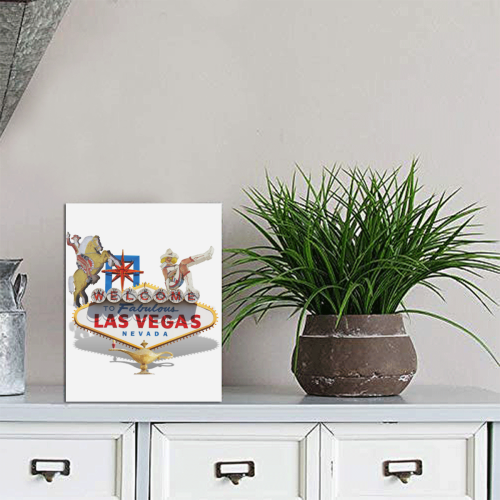 "Las Vegas Welcome Sign Photo Panel for Tabletop Display 6""x8"""