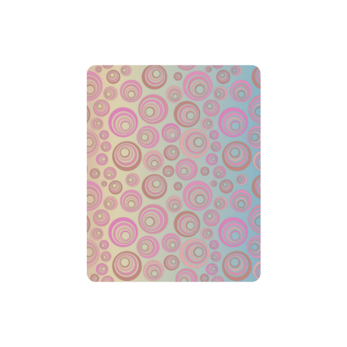 Retro Psychedelic Pink and Blue Rectangle Mousepad