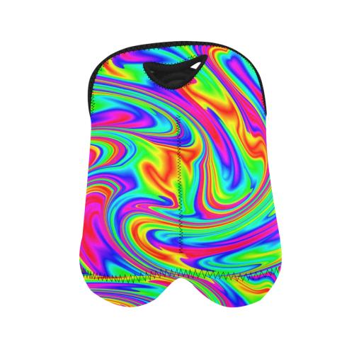 Psychedelic Rainbow 2-Bottle Neoprene Wine Bag