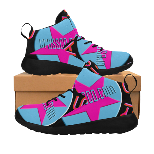 CRASSCO ROCKT BABYBLUE PINK Women's Chukka Training Shoes (Model 57502)