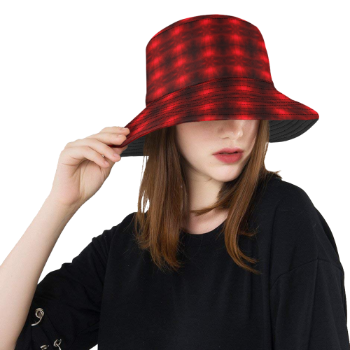 Red Flash All Over Print Bucket Hat