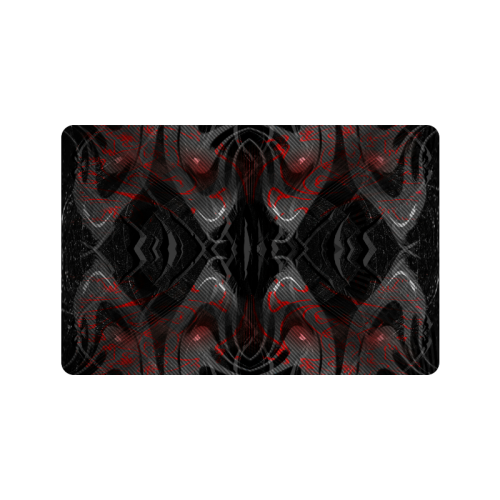 "Red Dribled Voice Crew Doormat 24""x16"""