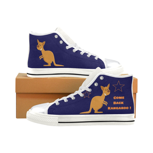 Come Back Kangaroo High Top Canvas Shoes for Kid (Model 017)