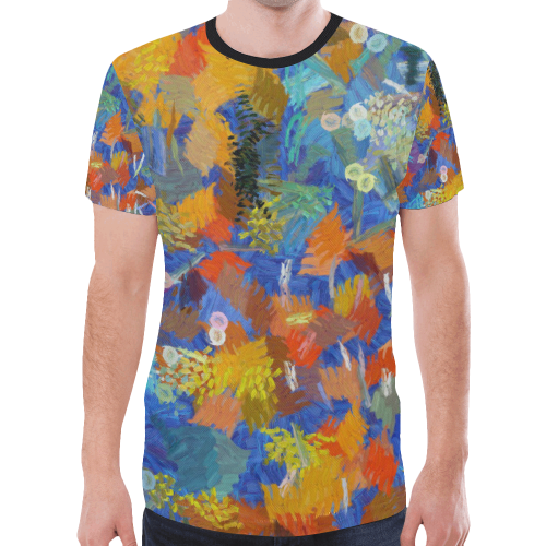 Colorful paint strokes New All Over Print T-shirt for Men (Model T45)