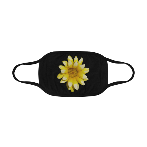 Yellow Flower, floral photography Mouth Mask