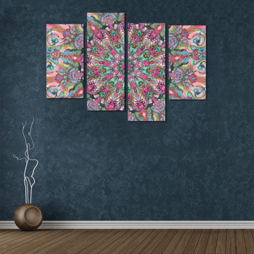 mandala 5 Canvas Wall Art Y (4 pieces)