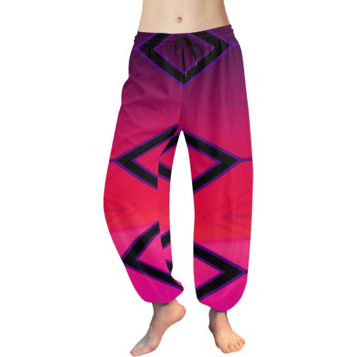DYMUNBOWZ Women's All Over Print Harem Pants (Model L18)