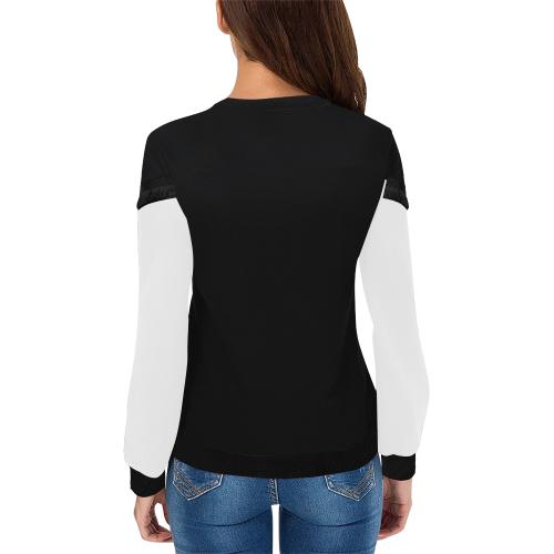 Keep Hope Alive Hands Women's Fringe Detail Sweatshirt (Model H28)