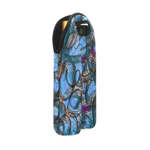 abstract joy 2 by JamColors 2-Bottle Neoprene Wine Bag