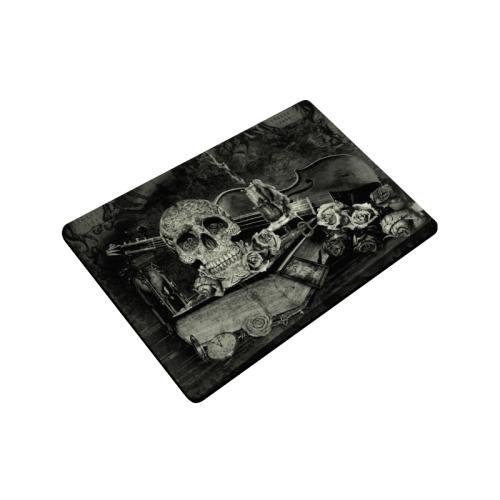 "Steampunk Alchemist Mage Roses Celtic Skull old Doormat 24""x16"""