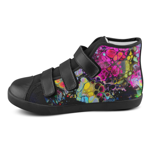 dragon gem kids high top velcro Velcro High Top Canvas Kid's Shoes (Model 015)