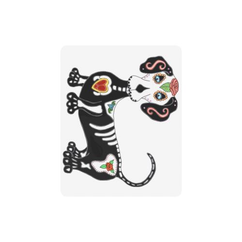 Dachshund Sugar Skull White Rectangle Mousepad