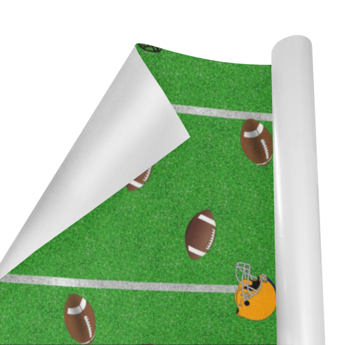 "Footballs and Helmets Pattern Gift Wrapping Paper 58""x 23"" (1 Roll)"
