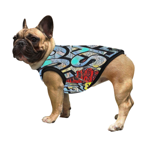 GRAFFITI FUCK SYSTEM FOR DOGS All Over Print Pet Tank Top