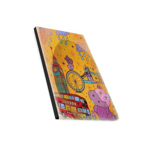 "Hippos in London by Nico Bielow Canvas Print 16""x20"""