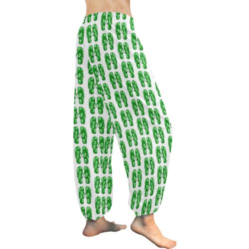 funny little artsadd flipflops Women's All Over Print Harem Pants (Model L18)