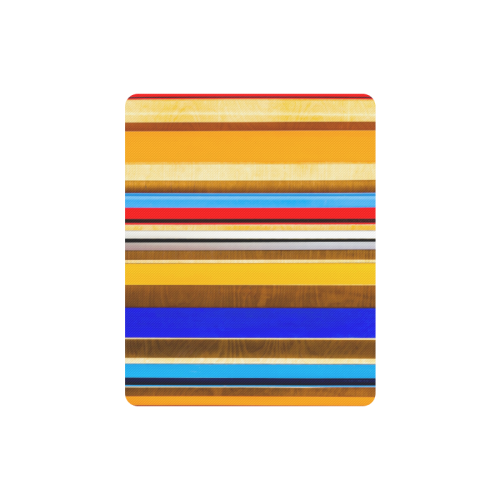 Colorful abstract pattern stripe art wood metal Rectangle Mousepad