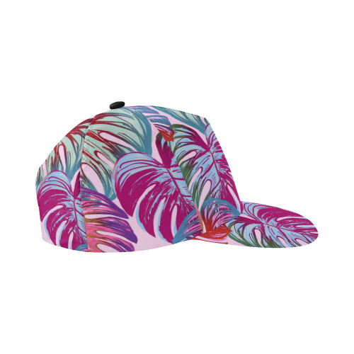 Pretty Leaves B by JamColors All Over Print Snapback Hat D