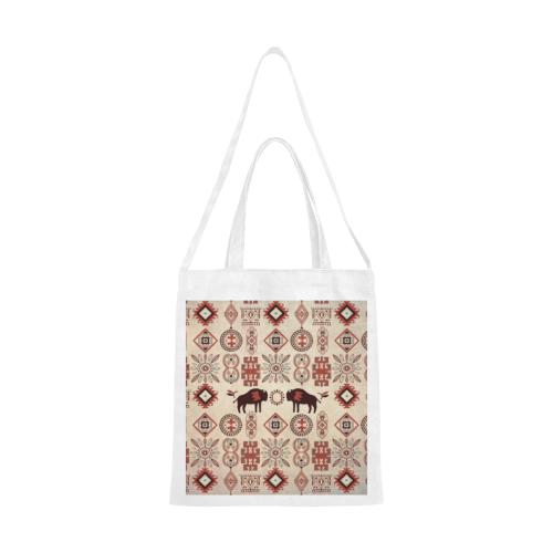 American Native Buffalo Canvas Tote Bag/Medium (Model 1701)
