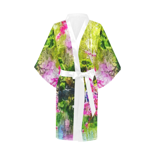 oriental garden Kimono Robe