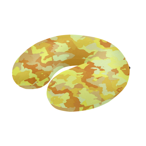 camouflage yellow U-Shape Travel Pillow