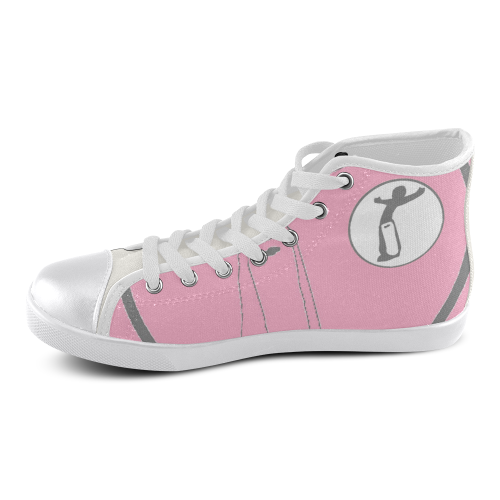 DW womens pink full remix Women's High Top Canvas Shoes (Model 002)