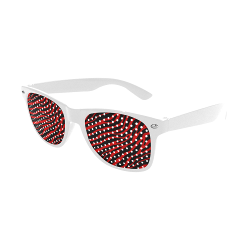 Ripped SpaceTime Stripes - Red Custom Goggles (Perforated Lenses)