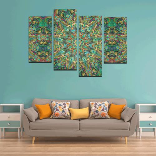 mandala spring 11 Canvas Wall Art Y (4 pieces)