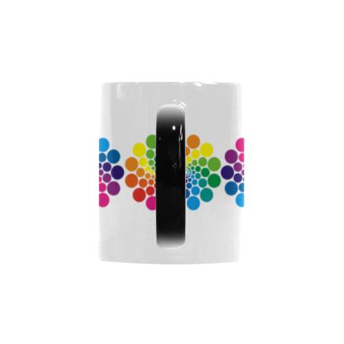 Colorful Dots Flower Circle Border Custom Morphing Mug (11oz)